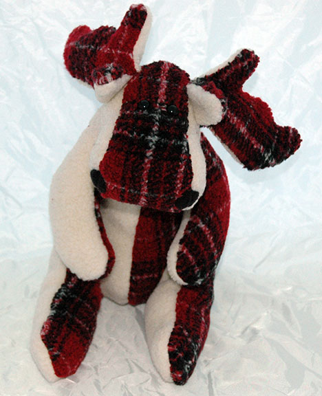 Adopt a Moose - Red Plaid on White